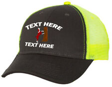Cap Hat Gray Neon Yellow Mesh Personalized Hound Dog Coon Squirrel Cur Feist