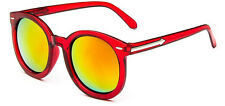 MOHAWK Ladies Oversize Designer Sunglasses Red & Sunburst Mirror UV400 Y33