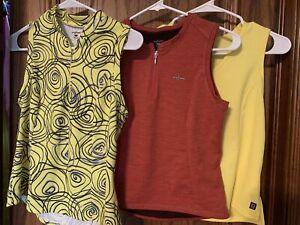 She Beest women's sz Medium sleeveless cycling jersey Lot 3 2 Yellow One Red
