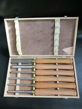 6 PC. Craftsman Wood Turning Lathe Chisels Chisel Set Wood Turning Dovetail Box
