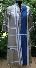 Vtg Womens Catherine Ogust Penthouse Gallery Dress Sz S Tunic  Abstract Caftan