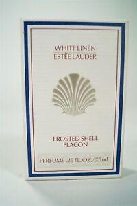 NOS in Box Estèe Lauder White Linen Frosted Shell Flacon Perfume 0.25oz