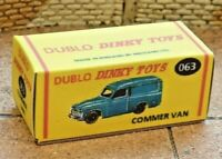 DUBLO DINKY NO.063 COMMER VAN CUSTOMISED DISPLAY/STORAGE REPLACEMENT BOX ONLY