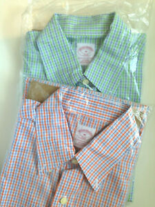 2 - Brooks Brothers Plaid Short Sleeve Oxford Size Medium NWT