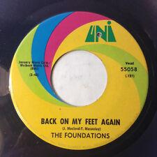 Foundations 45 Back on My Feet Again/Take or Leave You Loving 1968 funk soul NM