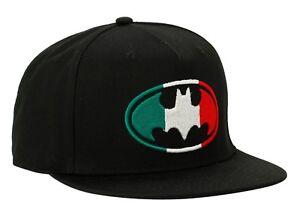 New DC Comics Batman Logo Mexico Flag Snapback Hat Embroidered