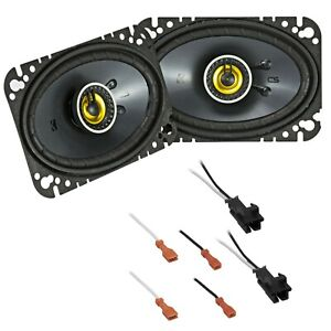 Kicker Front Car Speaker Replacement Kit For 1997-2003 Chevrolet Chevy Malibu