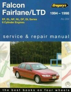 Gregorys Repair Manual Falcon, Fairlane, LTD EF, EL, NF, NL, DF, DL 1994 - 1998