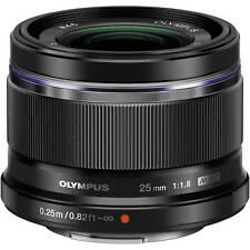 Black Olympus M.Zuiko Digital 25mm f/1.8 Lens Brand New *UK* TAX FREE