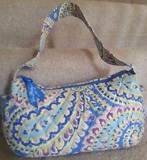 Vera Bradley Maggie Style Capri Blue Paisley Hand Bag Retired OOP Vera Bradly