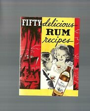 Rare Collectible Art Deco 1934: Fifty delicious Rum recipes Siboney Recipe Book