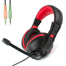 3.5mm COMPUTER HEADSET with STEREO MICROPHONE | Zoom or Skype Multimedia PC Chat