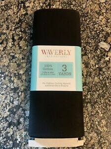 NIP Waverly Solid Black Quilters Cotton 3 Yard SAME DAY SHIP