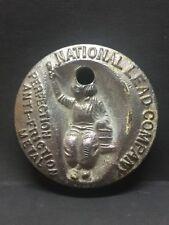 "National Lead Co ""DUTCH BOY"" paperweight 29.6 oz [with hole @ head of Boy]"