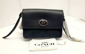 Coach 59467 Star Rivet Bowery Black Leather Crossbody MSRP $295 NWT NEW