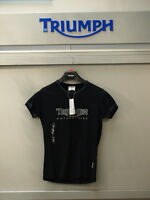 GENUINE Triumph Motorcycles Ladies Triumph Logo 2 T Shirt Black 90% OFF RRP