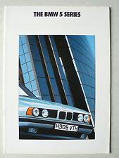 Prospekt BMW 5er E 34 (518i,520i,525i,535i,535i Sport), 2.1990, 40 S., englisch