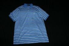 Polo Ralph Lauren Polo Shirt  Baby Blue/White Stripe, Classic Fit Sz S