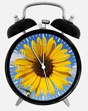 """Sun Flower Alarm Desk Clock 3.75"""" Home or Office Decor W185 Nice For Gift"""