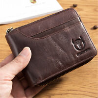 BULLCAPTAIN Multifunction Men Wallet Genuine Leather Card Slots Coin Purse