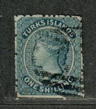 Turks Islands Sc#3 Used/F-VF, Cv. $67.50