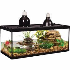 Turtle Tank Starter Kit 20-Gallon Deluxe Aquatic Reptile Terrarium Habitat Set
