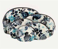 Set of 5 piece rose flower design make-up bag Purse, sizes range from 9 to 20cm