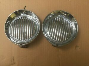 PAIR Jaguar 3.8S, 3.4S Horn Grilles with Brackets