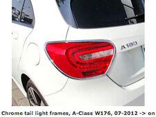Mercedes W176 A Class Chrome Tail lamp Surrounds Set A160 A180 A200 A250 A45 AMG