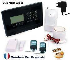 Kit Alarm Maison Sans Fil GSM Fonction Temporisation Auto Appel Anti Vol Fumée