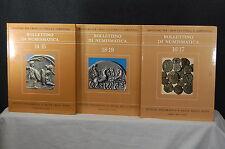 Bolletino Di Numismatica 14 - 19 1990 3 volumes Libreria Dello Stato
