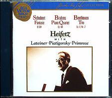 Jascha HEIFETZ: SCHUBERT Fantasie BRAHMS Piano Quartet BEETHOVEN Piano Trio CD