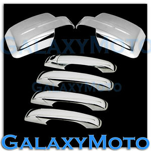 Triple Chrome Mirror+4 Door Handle+No Smart KH Cover for 07-15 JEEP PATRIOT