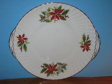 Royal Adderley Bone China Poinsettia Handled Cake Plate