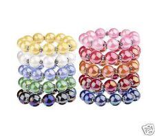 Iridescent Bead Stretch Bracelets, Set of 10