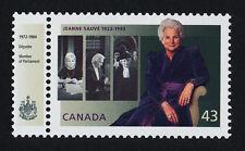Canada 1509 + label MNH Governor General - Jeanne Sauve