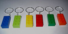 15 LEGO SILVER BRICK BLOCK 2X4 KEY RING CHAIN GREAT BIRTHDAY PARTY FAVOR OR GIFT