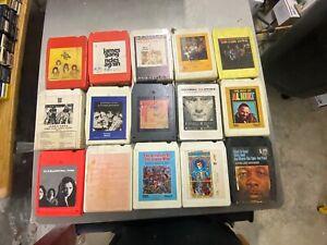 15@  8 track tapes Grateful Dead, Phil Collins, Jimi Hendrix  & More !!!