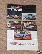 GMC TRUCK.1986 brochure