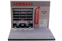 Diorama présentoir garage Nissan - 1/43ème - #43-2-A-A-091