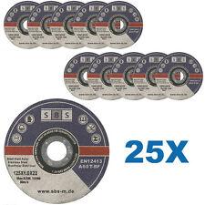 25 DISQUES TRONCONNER 125 x 1 MM MEULEUSE TRONCONNEUSE ACIER METAL INOX