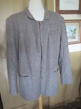 M/L men boy Civil War Civilian gray tan plaid wool 4-Button Sack Coat Jacket