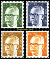 EBS Germany 1970-1971 Gustav Heinemann definitives (II) Michel 689-692 MNH**