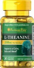 L-THEANINE 200 MGR. 30 CAPS. AMINO ACID HELPS REDUCE ANXIETY USA