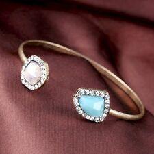 Oro Antiguo Art Deco Cristales Geométrico Brazalete con regalo * vendedor del Reino Unido *