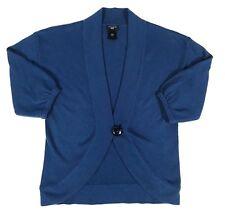 Ann Taylor Loft Womens XXS Petite Top Cardigan Sweater Wool Blend Deep Blue XXSP