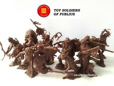 """PUBLIUS"" - SIOUX American Indian & TRAPPERS,12 rubber soldiers 1:32"