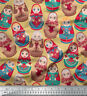Soimoi Cotton Fabric Material Russian Doll Print 58 Inches Wide By the Metre