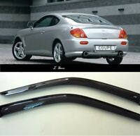 For Hyundai Coupe GK 2002-2006 Window Side Visors Sun Rain Guard Vent Deflectors