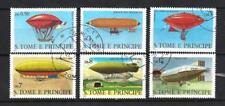 Ballons et Dirigeables St Thomas et Prince (33) série compl 6 timbres oblitérés